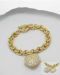 Zilveren vergulde armband met Zirkonia