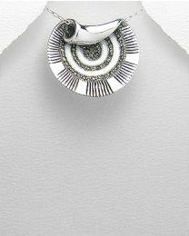 Zilveren hanger met Marcasiet