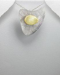 Zilveren vergulde hanger