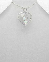 Zilveren hanger met Opaal