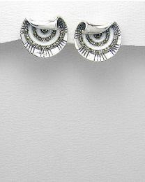Zilveren oorstekers met Marcasiet