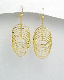 Zilveren vergulde oorbellen