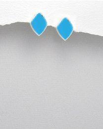 Zilveren oorstekers met Turkoois