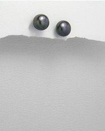 Zilveren oorstekers met Parels
