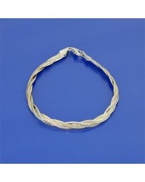 Zilveren vergulde tricolor armband