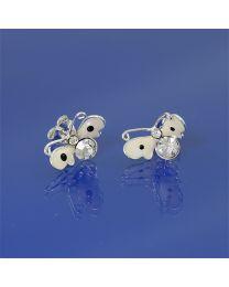 Zilveren kinder oorbellen met Zirkonia