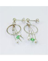 Zilveren oorbellen met Parel en Zirkonia