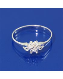 Zilveren ring met Zirkonia's