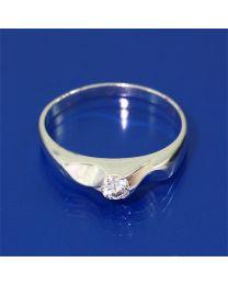 Zilveren ring Zirkonia's