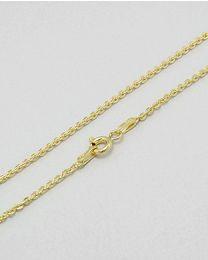 Vergulde zilveren collier - 50.0 cm