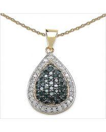 Zilveren vergulde hanger met Diamant