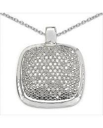 Zilveren hanger met Diamant