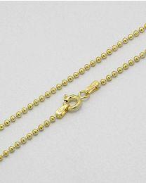 Zilveren vergulde collier - 50.0 cm